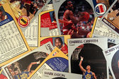 Scattered Basketball Cards — Stock Photo