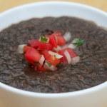 Black Bean Soup — Stock Photo