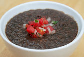 Black Bean Soup — Stock Photo