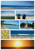 Carte postale vacance Biscarrosse — Stock Photo