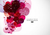 Abstract ambiance heart — Stock Vector
