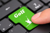 Golf Key — Stock Photo
