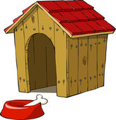 Dog house — Stock Vector