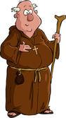 Kreskówka mnich — Wektor stockowy