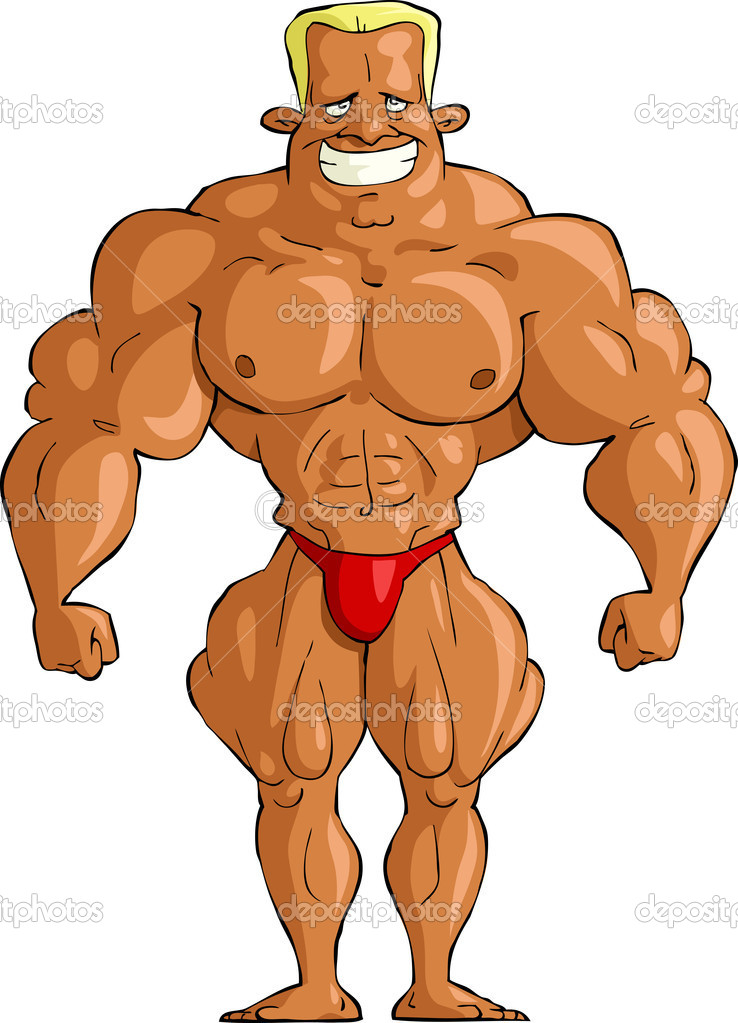 Bodybuilder on a white background, vector illustration — Stock Vector #8160926