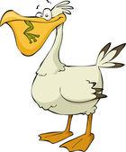 Cartoon pelican — Stock Vector