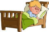 The boy sleeps — Stock Vector