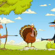 Hunting for turkey — Imagen vectorial