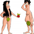 Adam and Eve — Stock Vector