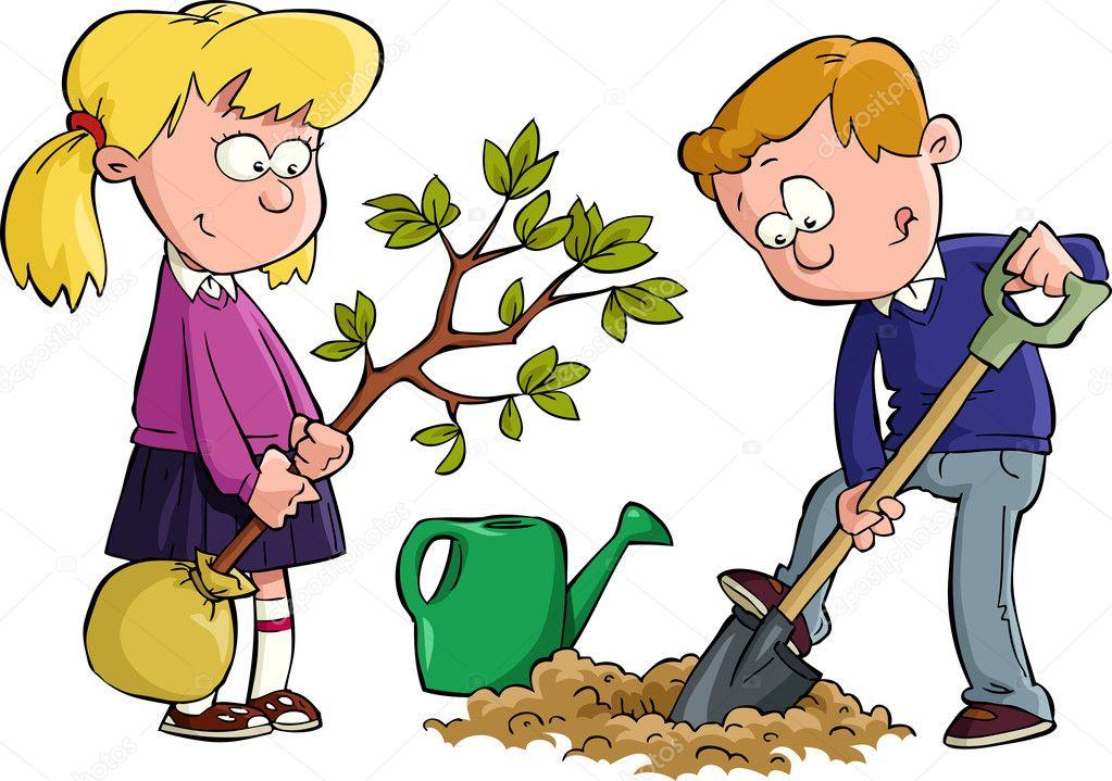 Дети сажают деревья картинки 38