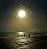 Três filhos — Foto Stock