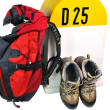 Hiker's equipment for the road — Stock Photo
