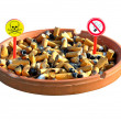 Ashtray four — Stock Photo