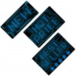 Royalty-Free Stock Vector Image: Blue electronic style tags set