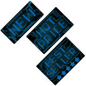 Blue electronic style tags set — Stock vektor