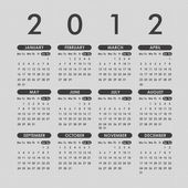 Grey calendar 2012 — Stock Vector