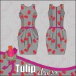 Tulip Dress - Stock Vector