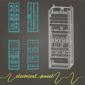 Electrical panel — Stock vektor
