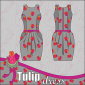 Tulip Dress — Stock vektor