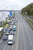 Car road congestion — Stock Photo