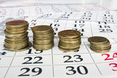 Money calendar — Stock Photo