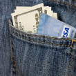 Money pocket jeans — Stock Photo #8843083