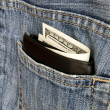 Money pocket jeans — Stock Photo #8843138