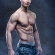 Good looking bodybuilder posing — Stock Photo