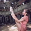 Ballet dancer posing on theatre — Stock Photo