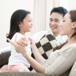 Happy AsiFamily Playing — Stock Photo #8279008