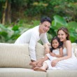 Asian Family Happy Together — Stock Photo