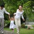 Happy Asian Family — Stock Photo