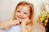 The smiling girl — Stock Photo