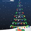 Vector Christmas background — Vector de stock #8051611