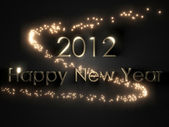 3D Happy New Year 2012 background — Stock Photo