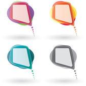 Wektor kolor mowy Bańka zestaw — Wektor stockowy