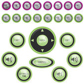 Modern Media Player Button Set — Vector de stock