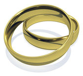 3D rendered Isolated Golden Rings — Stock Photo