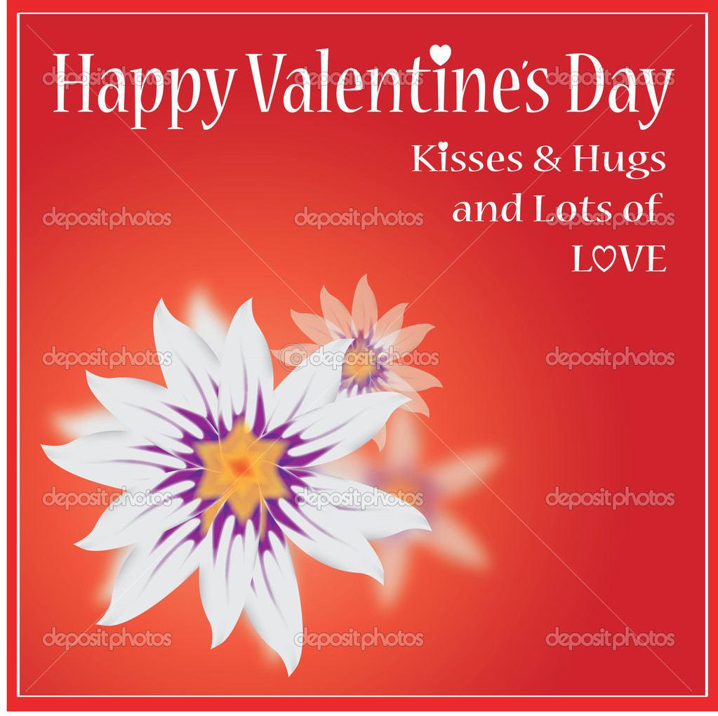 Vector Happy Valentine's Day Card — Stock Vector #8699608