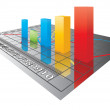 Royalty-Free Stock Vector Image: Vector 3D Color bar graph