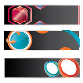 Vector Color Web2 banner set — Stock Vector