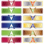 Vector Color Download - Upload button set — Stock Vector
