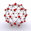 3D rendered molecular structure — Stock Photo #9365515