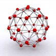 3D rendered molecular structure — Stock Photo