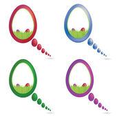 Vector Color Easter Speech Bubble Set — Stock Vector