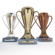 3D rendered Trophy Cup Set — Stock Photo #9823889
