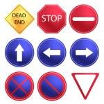 Vector tráfico signo conjunto — Vector de stock