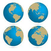 Vector globe set — Stock Vector