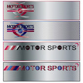 Vector Motor Sports Banner set — Stock Vector
