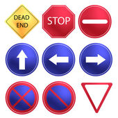 Vector Traffic Sign set — Vettoriale Stock